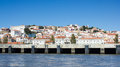 Lisboa lisbon white city watched from tejo tagus river known also as focusing the castle or s jorge hill left alfama hill oldest Stock Image