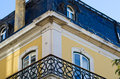 Lisbon balcony Royalty Free Stock Photo