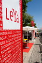 Lisbon Book Fair Leya Stands Stock Photo
