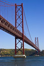 Lisbon Bridge Stock Image