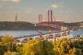 Lisbon Bridge Royalty Free Stock Photo