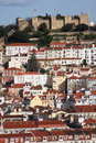 Lisbon castle hilltop in the center of portugal Stock Photo