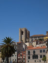 Lisbon Cathedral towers Stock Photos