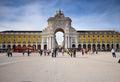 Lisbon City Gate Royalty Free Stock Photo