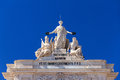 Lisbon gate statues Royalty Free Stock Photo