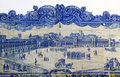 Lisbon historical Azulejo ceramic tiles Stock Photo