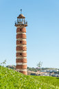 Lisbon lightouse at belem lighthouse in with blue sky and hard sunlight Royalty Free Stock Photos