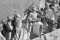 Lisbon monument to the discoveries belem portugal detailed image used infrared filter Stock Images
