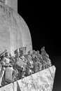 Lisbon monument to the discoveries belem portugal detailed image used infrared filter Royalty Free Stock Photo