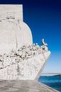 Lisbon monument to the discoveries with blue sky Stock Photo