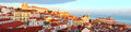 Lisbon Old Town skyline Royalty Free Stock Photo