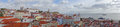 Lisbon panoramic view of portugal the photo was taken from saint geaorge s castle Royalty Free Stock Image