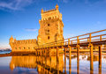 Lisbon Portugal Belem Tower Royalty Free Stock Photo
