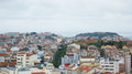 Lisbon portugal general view the castle hills and tagus a of including s jorge of s jorge sant ana s vicente s andré saint Royalty Free Stock Images