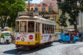 Lisbon, Portugal - May 19, 2017: The famous old tram no. 28 and