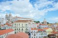 Lisbon portugal panoramic view of the alfama district in Stock Photography