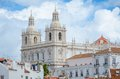 Lisbon portugal panoramic view of the alfama district in Stock Image