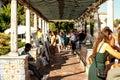 Lisbon, Portugal - Septmember 19, 2016: Streets around Viewpoint de Santa Luzia.