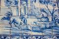 Lisbon, Portugal: Street Tiles With Bucolic Motifs In Alfama Quarter