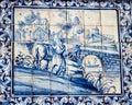 Lisbon, Portugal: Tiles With Bucolic Scene In Loios Square, Mouraria Quarter