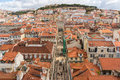 Lisbon portugal view from mirador de santa lucia Stock Photo