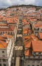 Lisbon portugal view from mirador de santa lucia Royalty Free Stock Images