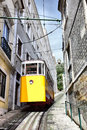 Lisbon's funicular Royalty Free Stock Photo