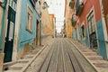 Lisbon s gloria funicular in bairro alto lisbon portugal march classified portugal Stock Photos