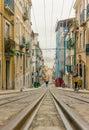 Lisbon s gloria funicular in bairro alto lisbon portugal march classified portugal Stock Image