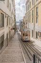 Lisbon s gloria funicular in bairro alto lisbon portugal march classified portugal Stock Photo