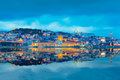 Lisbon Skyline and its Reflection, Portugal Royalty Free Stock Photo