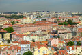 Lisbon skyline lisbon portugal baixa district from castelo de são jorge Stock Image