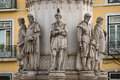 Lisbon statue in the chiado neighborhood in portugal Royalty Free Stock Photos