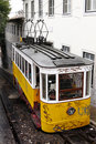 Lisbon tram funicular Stock Photo