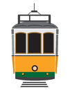 Lisbon tramway vector illustration of the Royalty Free Stock Photo