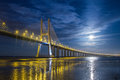Lisbon, Vasco da Gama Bridge Royalty Free Stock Photo
