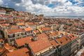 Lisbon view from mirador de santa lucia portugal Royalty Free Stock Photos