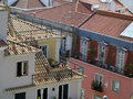 Lisbon view over the roofs of portugal Stock Image