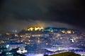 Lisbon, view to castle Castel Sao Jorge Royalty Free Stock Photo