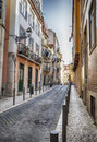 Lisbons city panorama of spring portugal Stock Image