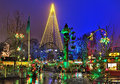 Liseberg amusement park with Christmas illumination in Gothenburg, Sweden Royalty Free Stock Photo