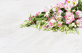 Lisianthuses  flower bouquet Royalty Free Stock Image