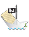 List make a upload it paper boat send Stock Photo