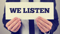 We listen Royalty Free Stock Photo