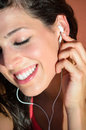 Listening music detail Stock Images