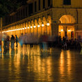 Liston at night, Corfu city Royalty Free Stock Images