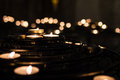 Lit candles in a church Royalty Free Stock Photos