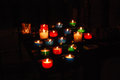 Lit Church Candles Royalty Free Stock Photo