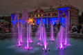 Lit Fountain In The Kadriorg Park Royalty Free Stock Photo
