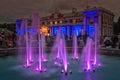 Lit Fountain In The Kadriorg Park Royalty Free Stock Photo